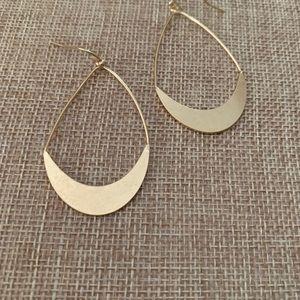 """Matte Gold 2"""" Tear Drop Earrings"""